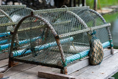 Crab trap Royalty Free Stock Images
