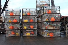 Crab traps. New crab traps for commerical fishing Stock Photography