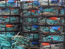 Crab Traps. In Bodega Bay Royalty Free Stock Image