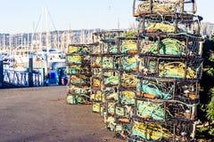 Crab traps Stock Images