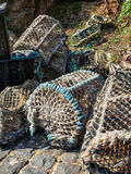 Crab Traps In Harbour Of The Sark Island Stock Images