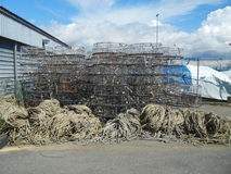Crab Traps Royalty Free Stock Photography