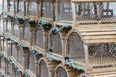 Crab Traps on Wharf Royalty Free Stock Photo