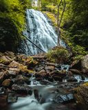 Crab Tree Falls in North Carolina Stock Photography