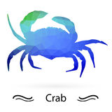 Crab with triangles of different colors. Raster Stock Image