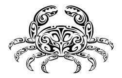Crab tribal tattoo stock photography