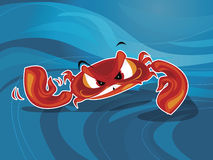 Crab vector. Furious crab underwater vector  illustration Stock Photo
