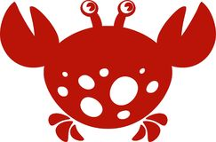 Crab. Vector image Royalty Free Stock Image