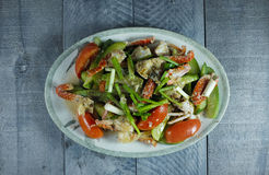 Crab with vegetable Stock Image