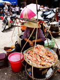 Crab vendor Hanoi, Vietnam Stock Photography