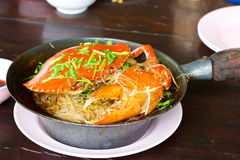 Crab and vermicelli Royalty Free Stock Images
