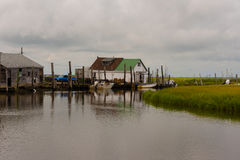 Crabbing Station in the New Jersey Wetlands Stock Photography