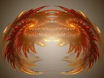 Crabby fractal vektor illustrationer