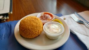 Crabcake-Berglorbeer New-Jersey stockbild