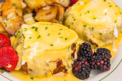 Crabcakes Benedict Royalty Free Stock Photography