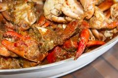 Crabe épicé de /poivron photo stock