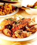 Crabe épicé frit Images libres de droits