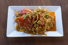 Crabe au curry Photo stock