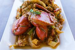Crabe au curry Images stock