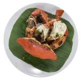 Crabe cuit à la vapeur Photos stock