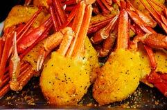 Crabe cuit au four Image libre de droits