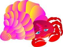 Crabe dans une coquille de coque. Illustration de vecteur   Photographie stock
