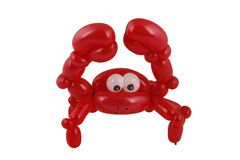 Crabe de ballon d'isolement sur le blanc Photo libre de droits