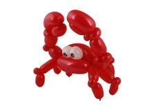 Crabe de ballon d'isolement sur le blanc Photographie stock