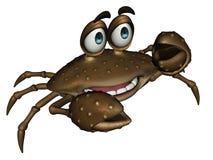 Crabe de dessin animé Photo libre de droits