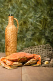 Crabe de Dungeness prêt à cuisiner Images libres de droits