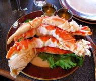 Crabe de nourriture Images stock