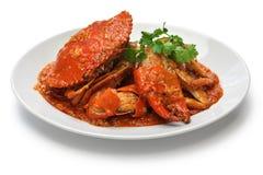 Crabe de piment de Singapour Photo stock