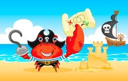 Crabe de pirate d'illustration de vecteur Photographie stock