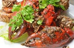 Crabe de poivre noir Photos stock