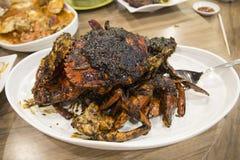 Crabe de poivre noir Images stock