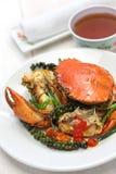 Crabe de poivron vert de Kampot Photos libres de droits