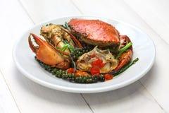Crabe de poivron vert de Kampot Images libres de droits