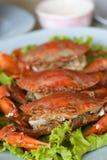 Crabe de vapeur Photographie stock