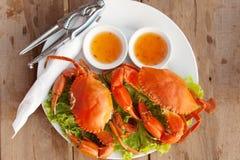 Crabe deux sur un plat Image libre de droits