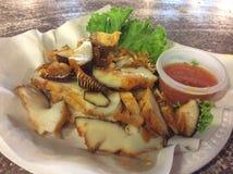 Crabe en pierre grillé Images stock