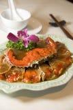 Crabe en vin - cuisine de Changhaï images stock