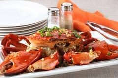 Crabe entier de plat Photographie stock