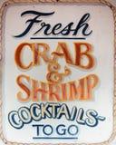 Crabe et crevette frais Images stock