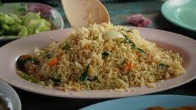 Crabe Fried Rice du plat Photos stock