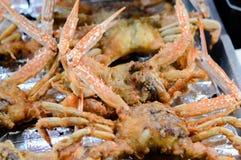 Crabe frit d'or images libres de droits