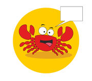 Crabe gai et sociable illustration stock