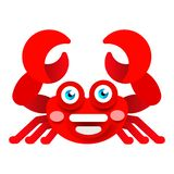 Crabe gai sur l'illustration blanche de vecteur de fond illustration libre de droits