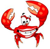 Crabe heureux Images stock