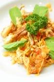 Crabe mou de coquille de spaghetti Image libre de droits