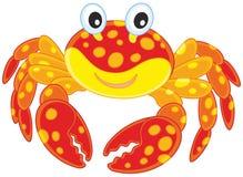 Crabe repéré par rouge illustration stock